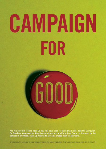 Campaign For Good Poster